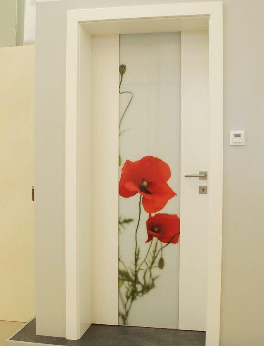 Tür mit integrierter Infrarotheizung - Bilddruck auf Glas
