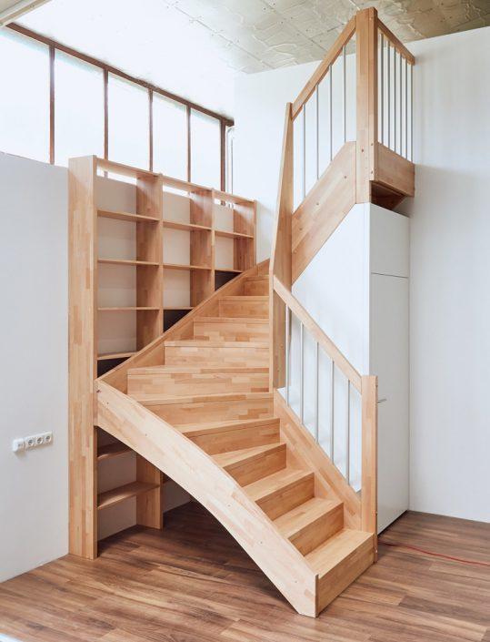 Treppe mit wenig Platzbedarf