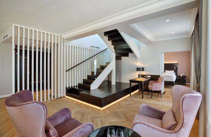 Treppe in der Kaiser Suite